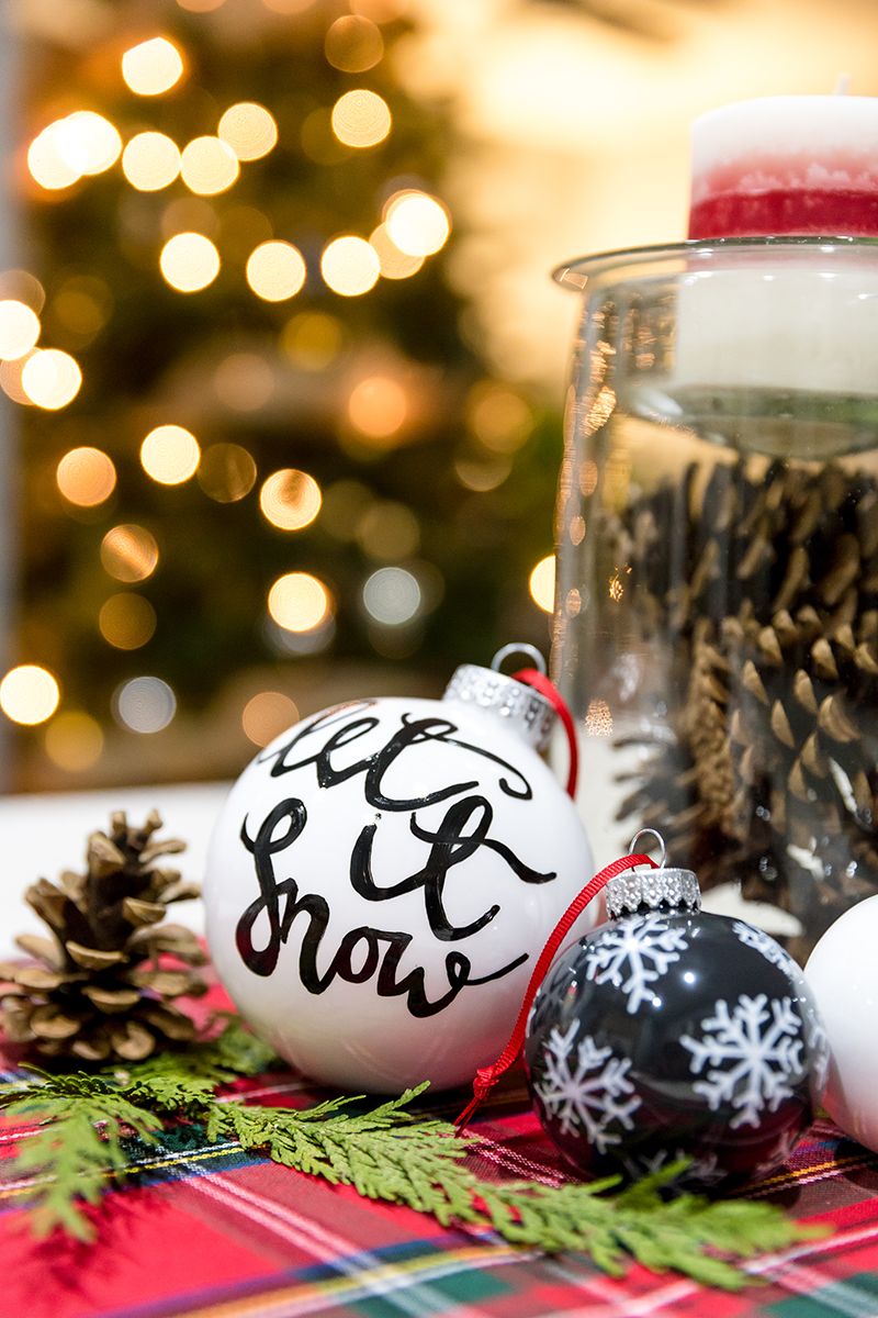 DIY Hand Painted Ornaments
