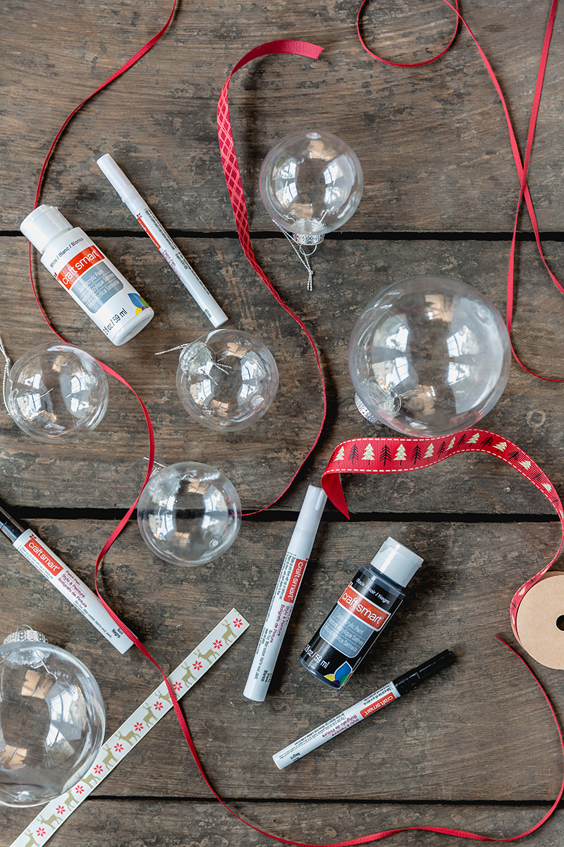 DIY Hand Painted Ornaments Supplies