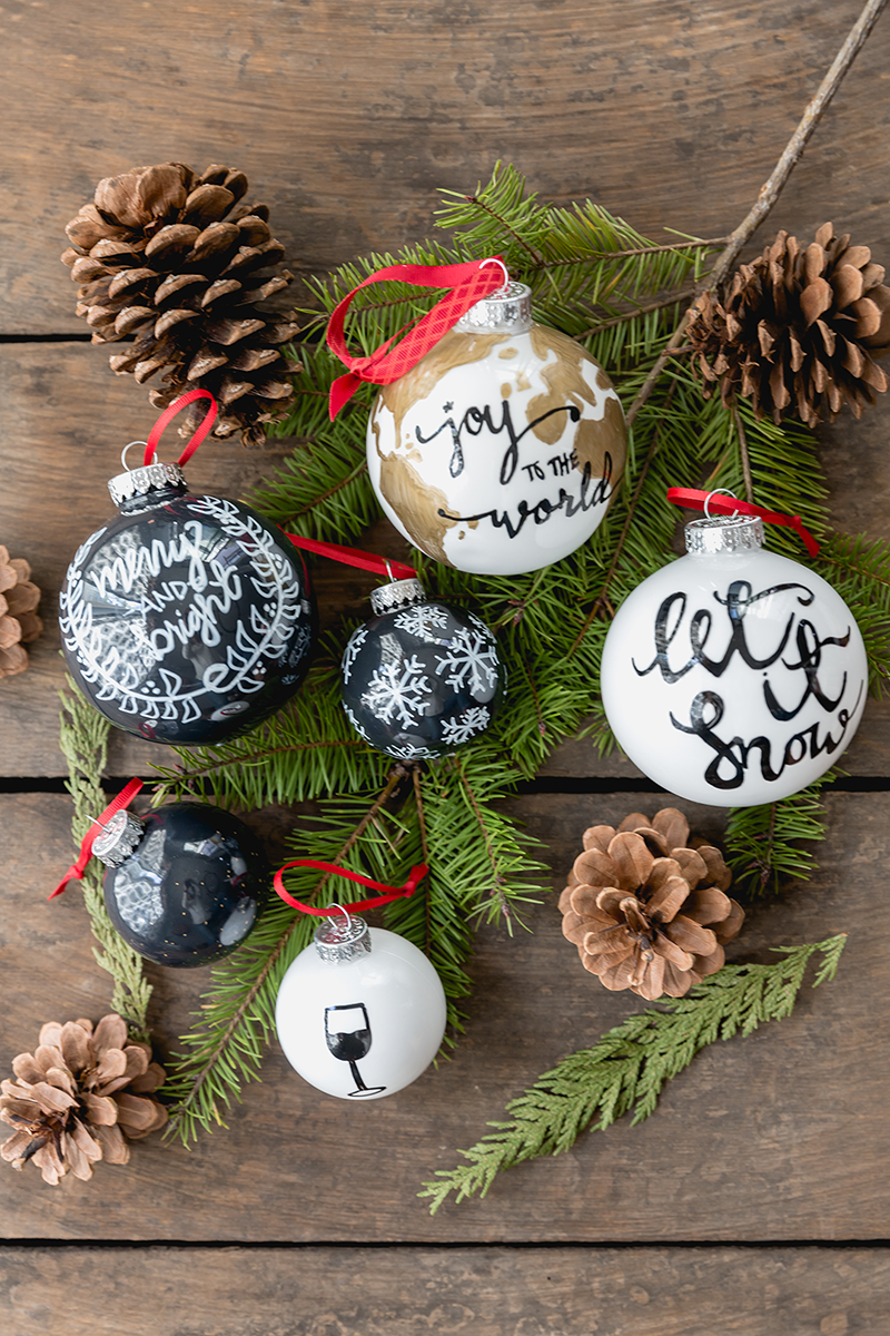 DIT Hand Painted Ornaments