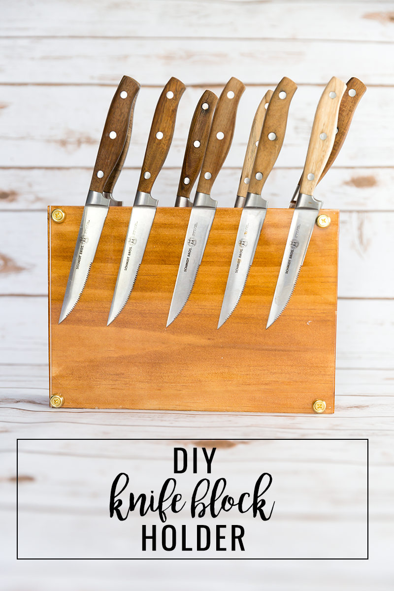 DIY Wood Block Knife Holder