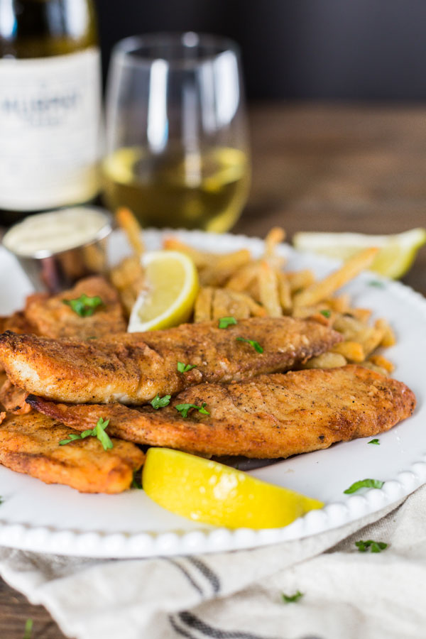 Keeping with the traditions of fall, serve up your own Friday fish fry complete with seasoned fries, macaroni salad and a glass of Murphy-Goode Chardonnay.