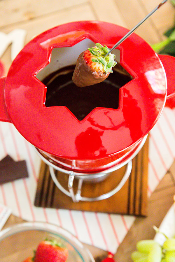 Celebrate Valentine's Day the way you really want, smothered in dark chocolate fondue while sipping Merlot and embraced by the one you love.