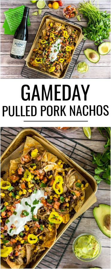 These gameday pulled pork nachos are the winning appetizer to serve up while cheering on your team to a victory!