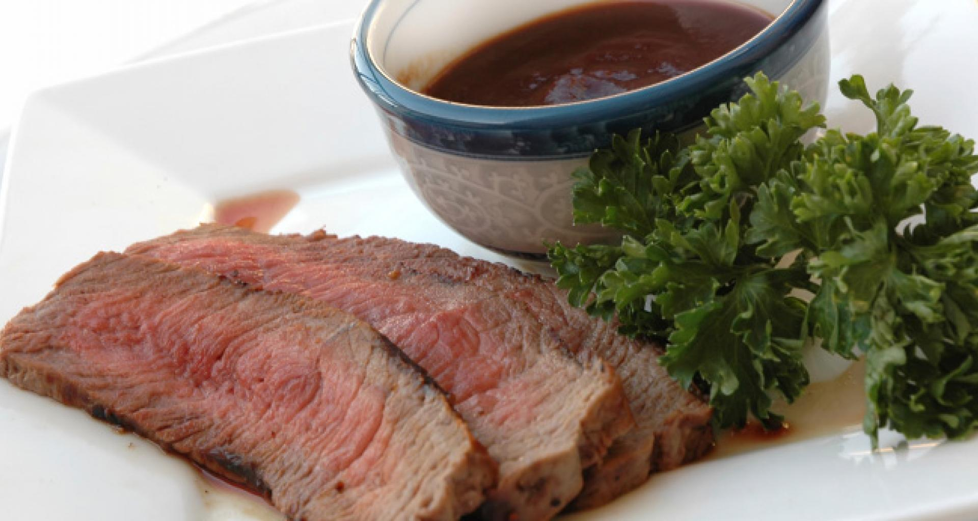 Grilled Tri-Tip with Cabernet BBQ Sauce