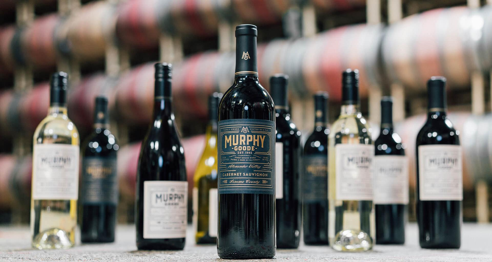 Murphy-Goode Alexander Valley Cabernet Sauvignon and collection of wines.