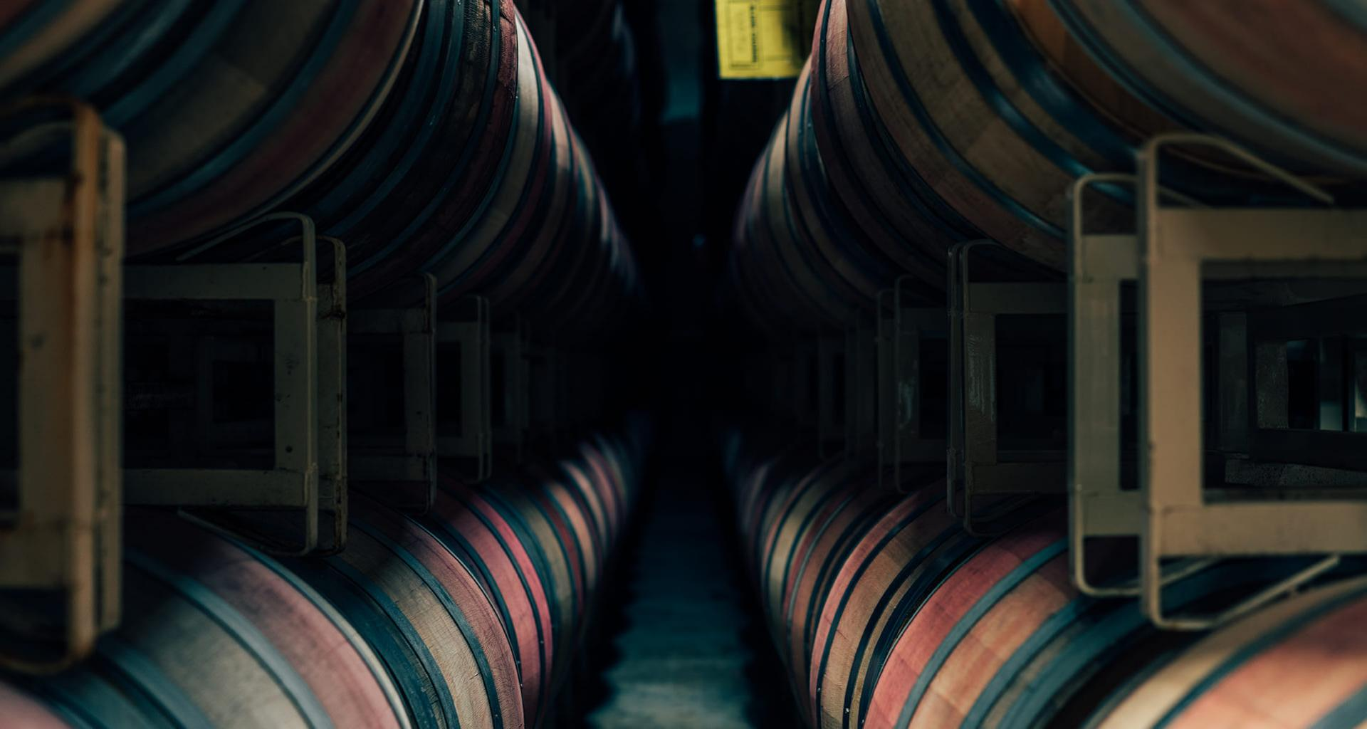 Murphy-Goode wine barrels