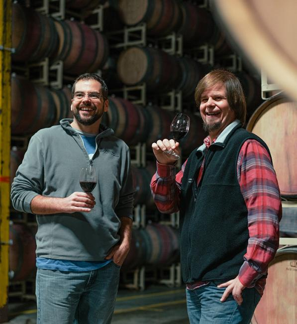 Murphy-Goode Winemaker, Dave Ready Jr. and Cellarmaster, Adam Ready